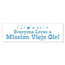 Loves Mission Viejo Girl Bumper Bumper Sticker