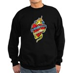 Down Syndrome Tattoo Heart Sweatshirt (dark)