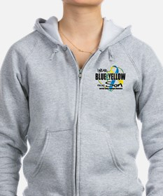 Blue & Yellow for Son Zip Hoodie