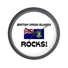 British Virgin Islands Rocks! Wall Clock