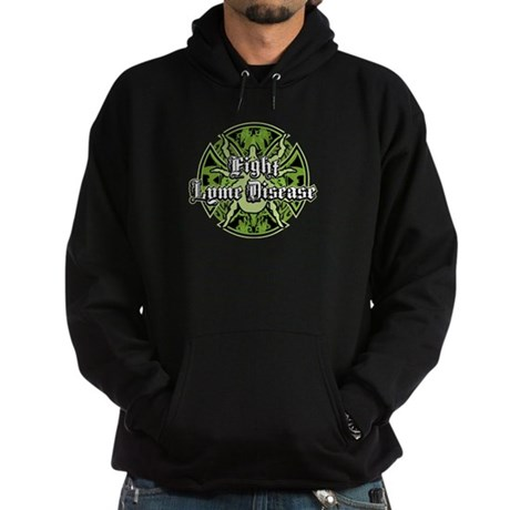 Lyme Disease Iron Cross Hoodie (dark)