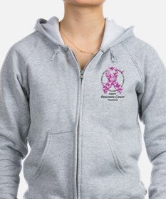 Pancreatic Cancer Butterfly R Zip Hoodie