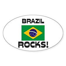 Brazil Rocks! Oval Decal
