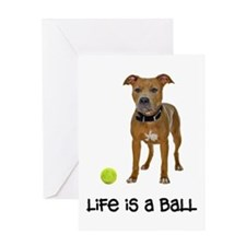 Pit Bull Life Greeting Card