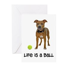 Pit Bull Life Greeting Cards (Pk of 10)