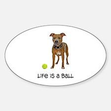 Pit Bull Life Sticker (Oval)