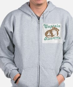 Captain Awesome - Zip Hoodie
