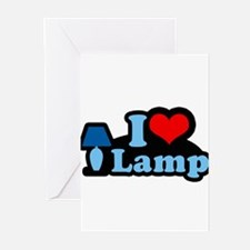 I heart lamp - Greeting Cards (Pk of 20)