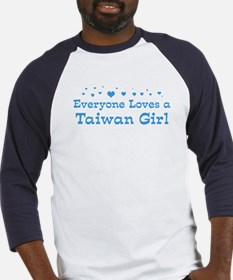 Loves Taiwan Girl Baseball Jersey