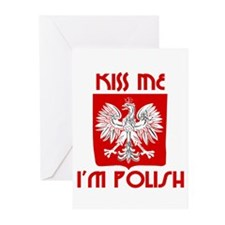 Kiss me, I'm Polish - Greeting Cards (Pk of 20)