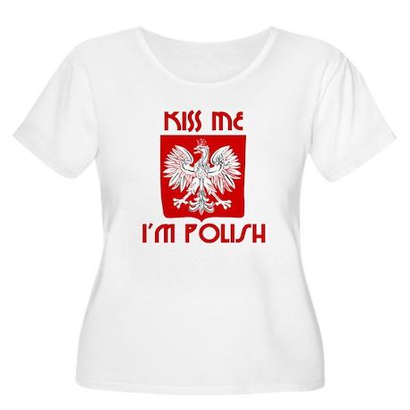 Kiss me, I'm Polish - Women's Plus Size Scoop Neck