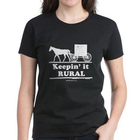 Keepin' it rural ~ Women's Dark T-Shirt