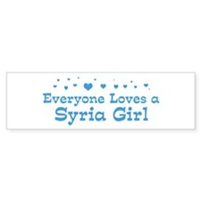 Loves Syria Girl Bumper Bumper Sticker
