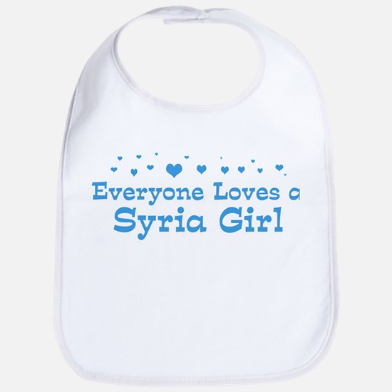 Loves Syria Girl Bib