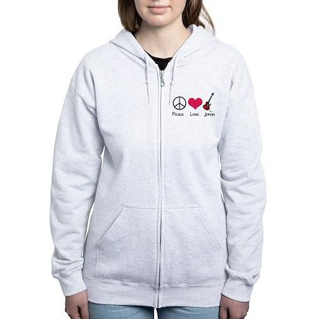 Peace Love Jonas Women's Zip Hoodie