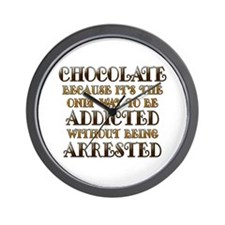 Chocolate Arrested Wall Clock