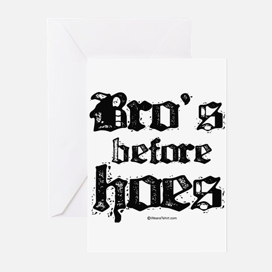 Bro's before Hoes - Greeting Cards (Pk of 20)