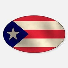 Puerto Rican Flag Oval Decal