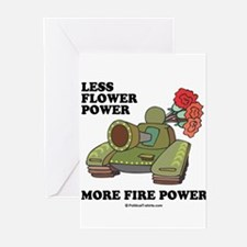 Less flower power Greeting Cards (Pk of 20)