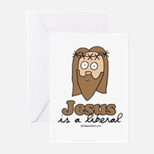 Jesus is a liberal - Greeting Cards (Pk of 20)