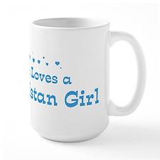 Loves Turkmenistan Girl Mug