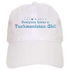 Loves Turkmenistan Girl Baseball Cap