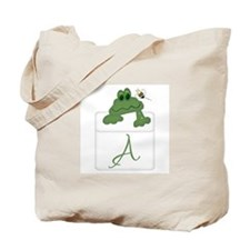 Pocket Pal Frog - Any Initial/Name Tote Bag
