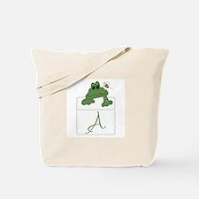 Pocket Pal Frog - Any Initial/Name Tote Bag