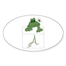 Pocket Pal Frog - Any Initial/Name Oval Decal