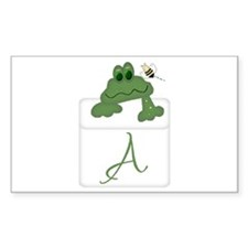 Pocket Pal Frog - Any Initial/Name Decal
