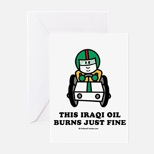 Funny Carbon footprint Greeting Cards (Pk of 20)