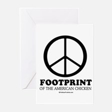 Unique Carbon footprint Greeting Cards (Pk of 20)