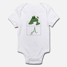 Pocket Pal Frog - Any Initial/Name Infant Creeper