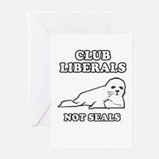 Club Liberals. Not Seals. Greeting Cards (Pk of 20