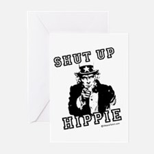 Shut up, Hippie - Greeting Cards (Pk of 20)