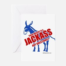 Jackass, any questions? - Greeting Cards (Pk of 20