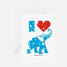 I Love Republicans - Greeting Cards (Pk of 20)