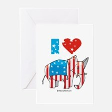I Love Republicans ~ Greeting Cards (Pk of 20)