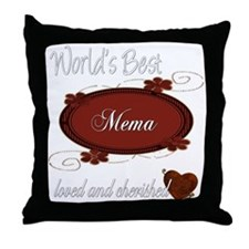 Cherished Mema Throw Pillow