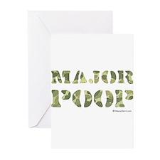 Major Poop Greeting Cards (Pk of 20)