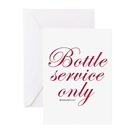 Bottle service only Greeting Cards (Pk of 20)