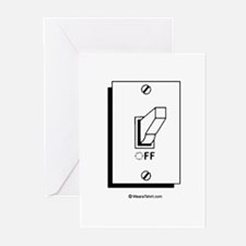 Off switch Greeting Cards (Pk of 20)