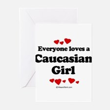 Funny Caucasian ethnicity Greeting Cards (Pk of 20)