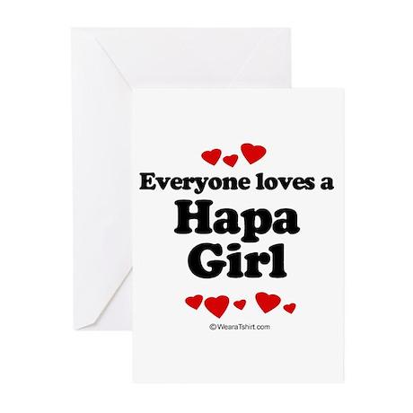 Everyone loves a Hapa girl Greeting Cards (Pk of 2