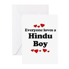 Everyone loves a Hindu boy Greeting Cards (Pk of 2