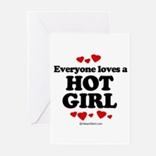 Everyone loves a hot girl Greeting Cards (Pk of 20