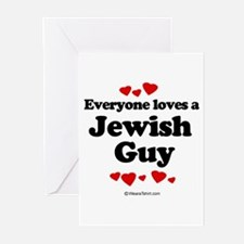 Everyone loves a Jewish guy Greeting Cards (Pk of