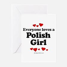 Everyone loves a Polish girl Greeting Cards (Pk of