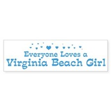 Loves Virginia Beach Girl Bumper Bumper Sticker