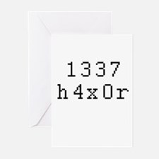 1337 h4x0r - Leet Hacker Greeting Cards (Pk of 20)